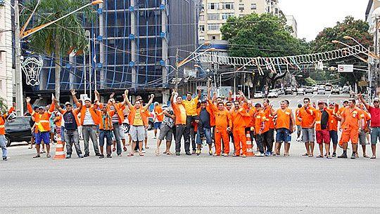 Estivadores protestam em Belém contra ataques aos seus direitos